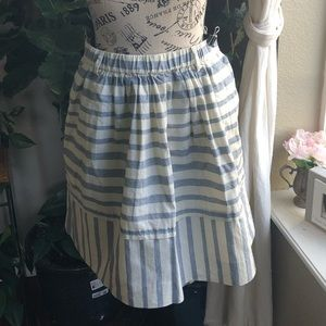 MADEWELL Stripe Cotton Mini Skirt